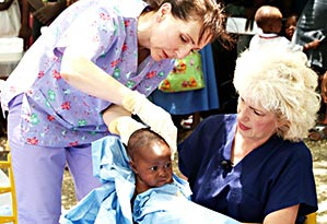 Mobile Medical Clinics-care for their sick child