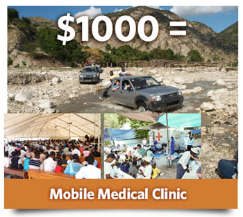 Sponsor a mobile medical team in Haiti today!