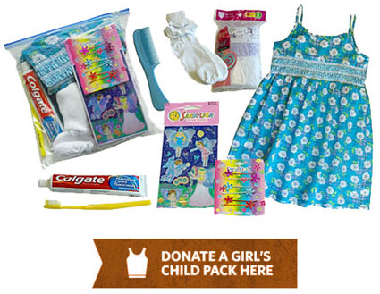 Donate a Girls pack for a needy child in Haiti here.