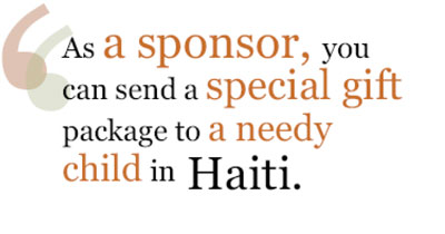 Send your sponsored child a gift in Haiti!