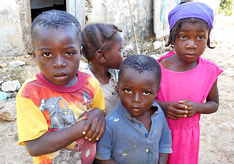 poor haitian children hungry