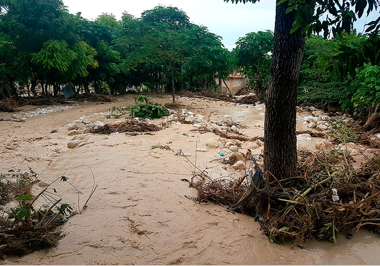 Flooding conditions in Haiti after Hurricane Matthew