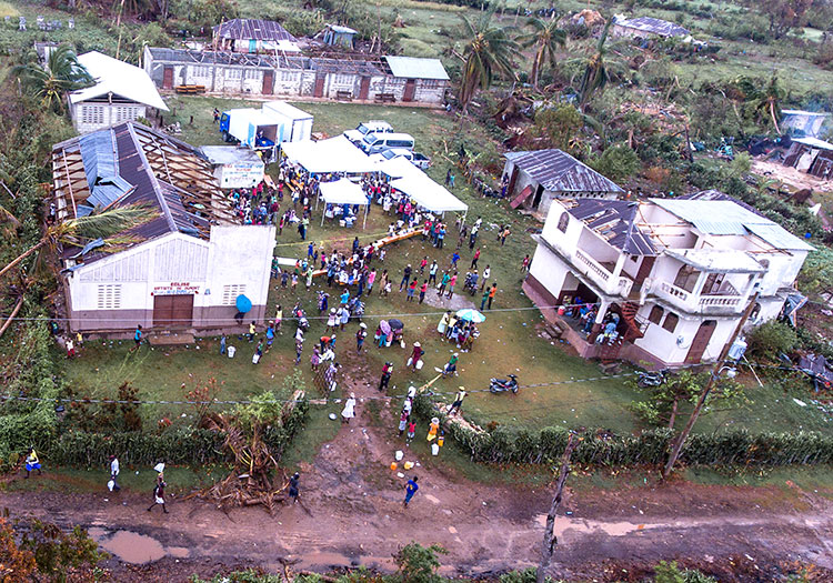 Hurricane damage in Dumont, Haiti