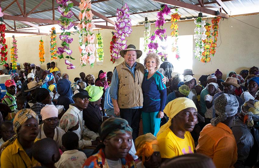 Bobby and Sherry held church service every night in Peyi Pouri, Haiti.