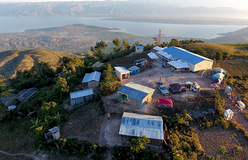 The Love A Child Mobile Medical team has set up an entire medical facility in the middle of nowhere.