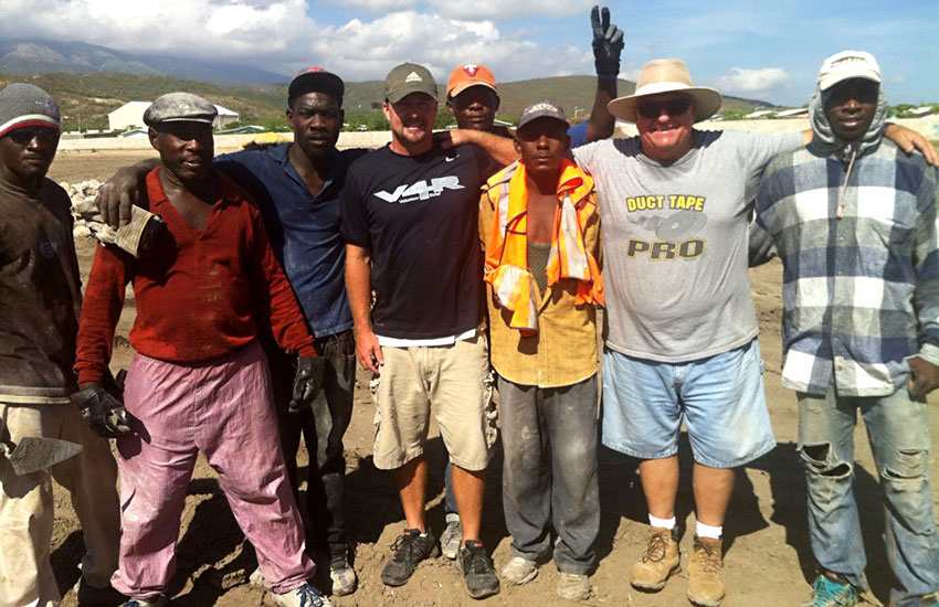Mark Ostrander oversaw our Haitian construction crew.