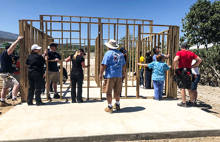 New homes in Miracle Village for the Vela Family.