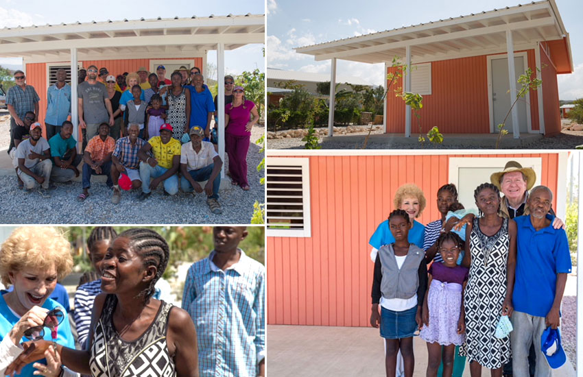 We moved two families into new homes in Miracle Village.