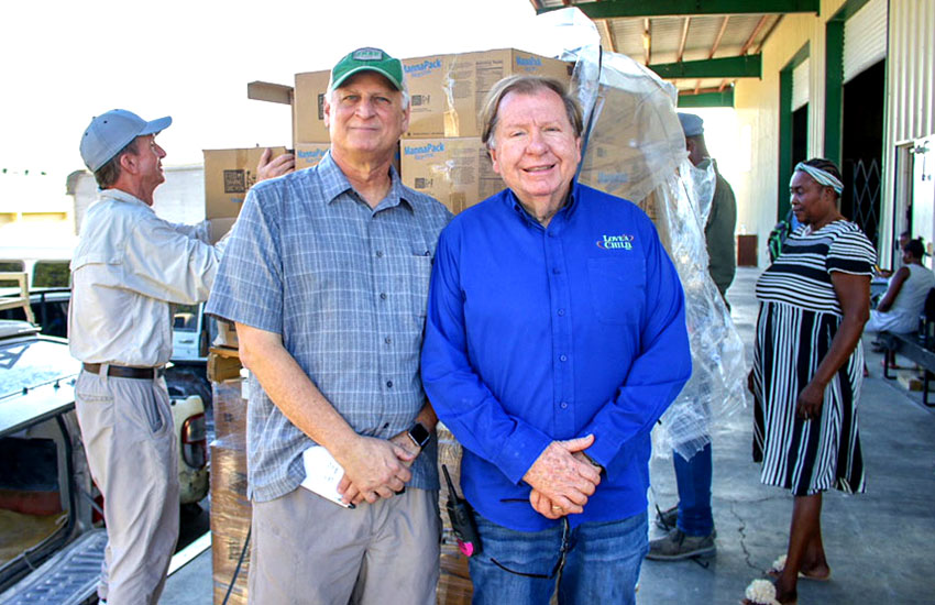 Mark Crea, the Executive Director/CEO of Feed My Starving Children, and Bobby Burnette of Love A Child.