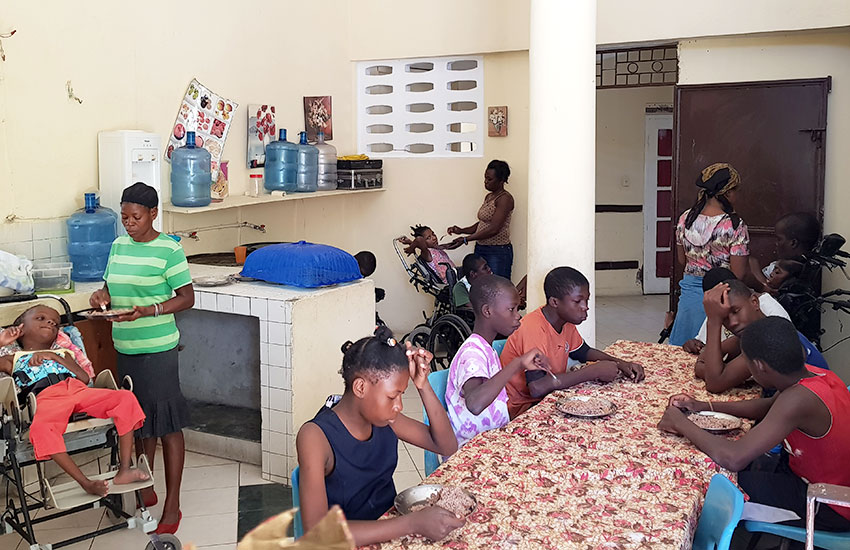 We share our food with Melissa's Hope who care for these precious children with mental and physical disabilities.