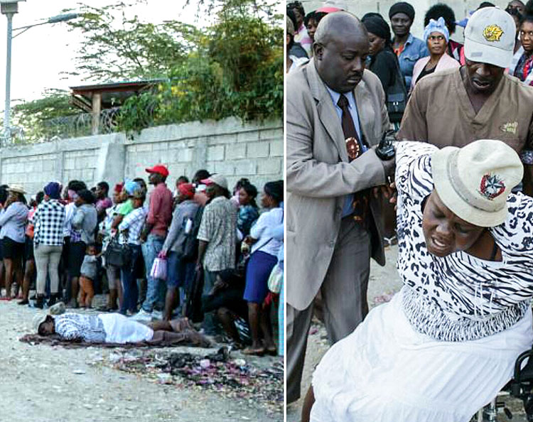 This poor woman was in bad shape when she reached the Jesus Healing Center.