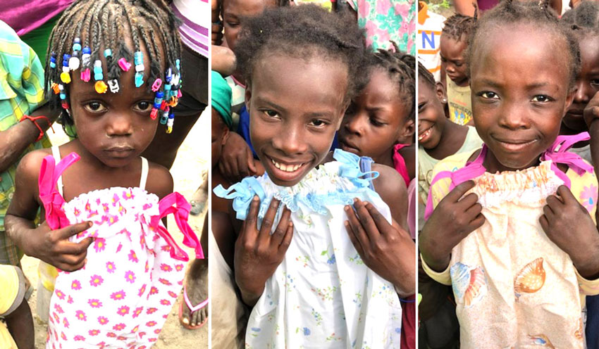 Thank you to our friend Billie McCauley for this donation of adorable dresses for these little Haitian girls!