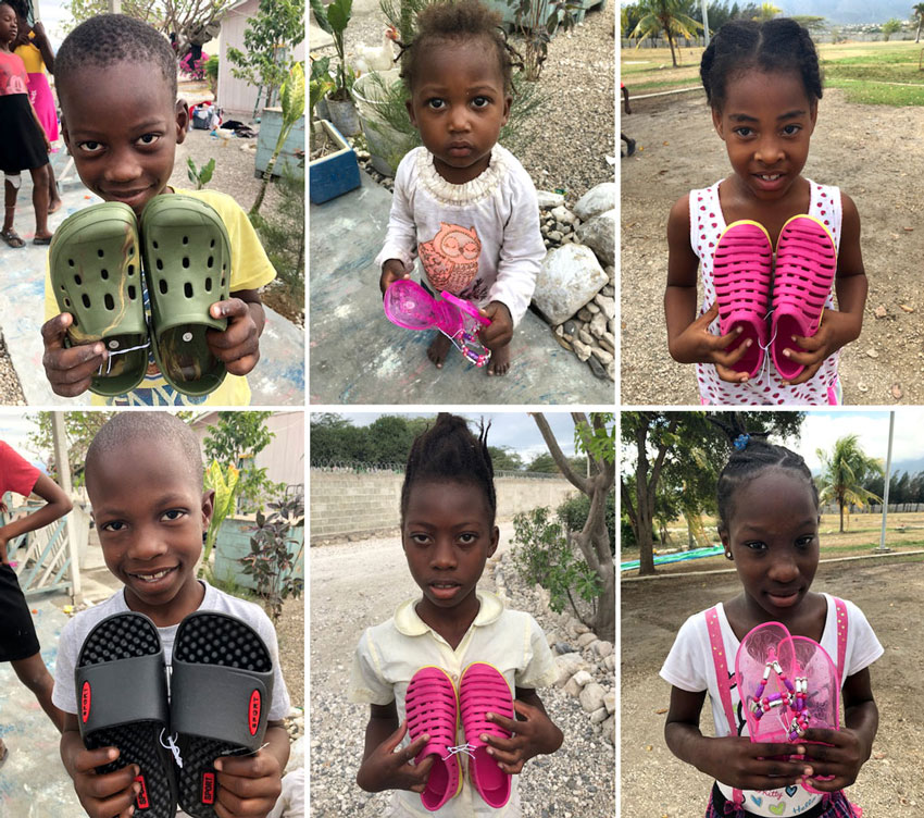 We are so thankful to Free Chapel and Cindy Tyas, for these gifts of sandals and shoes for the children of Haiti!