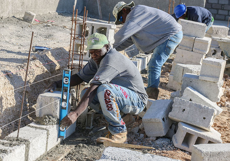 Our Haitian construction crew have been working nonstop on this project!