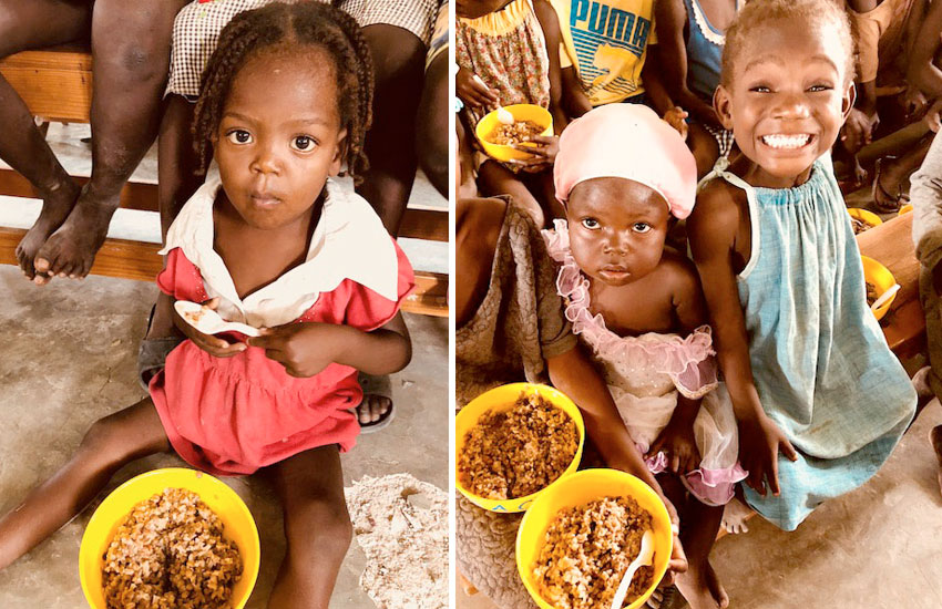 Food still has to get to the children in Haiti who need it the most.