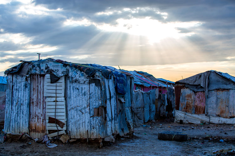 Some families are living in the garbage dumps in the slums of Cité Soleil.