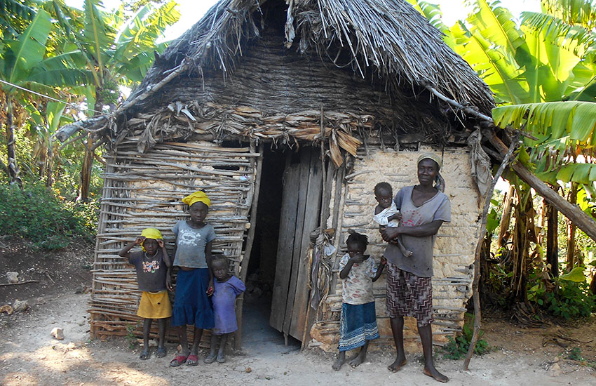 """Most Haitian women in our area live in small mud huts they call """"KiPi,"""" and their babies are born on the dirt floor."""