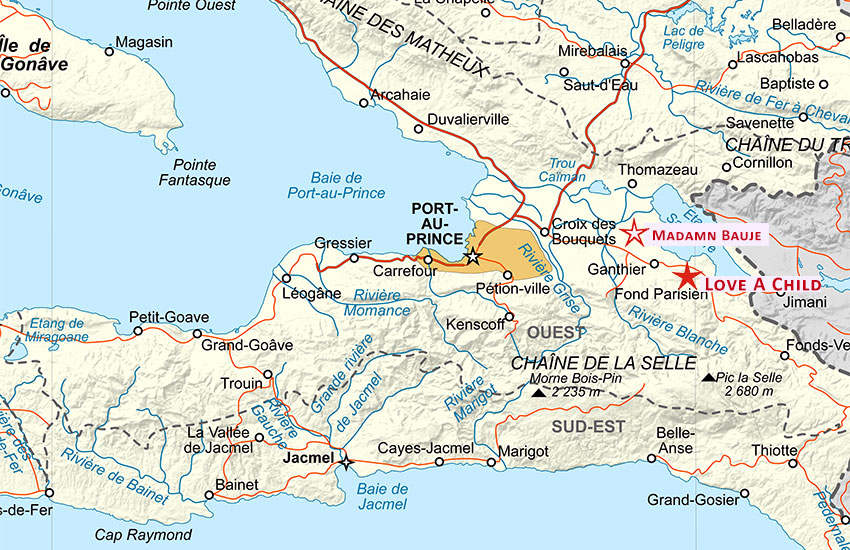 Location of Madamn Beauje, Haiti.