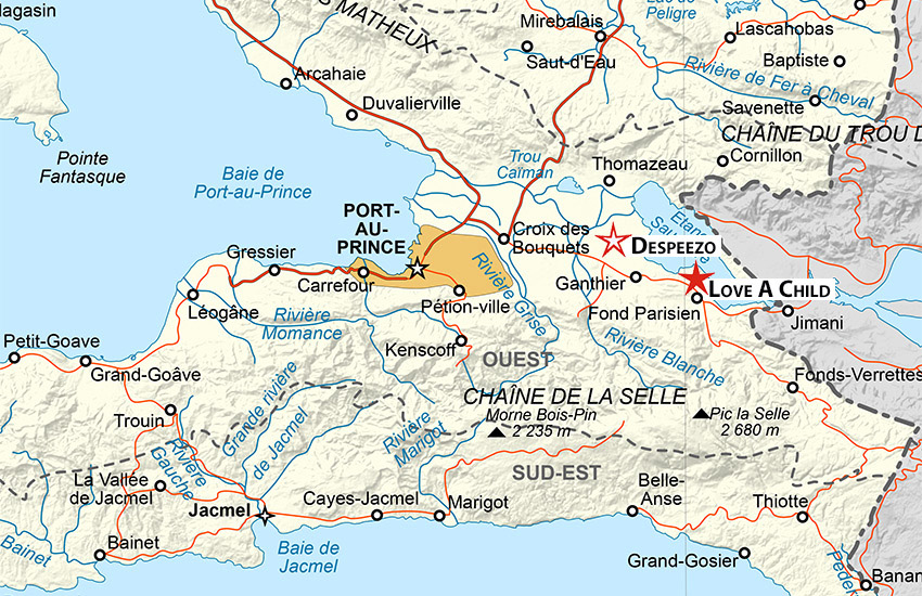 The village of Despeezo is a very small area in the Cul-de-Sac plain area of the Commune of Ganthier.