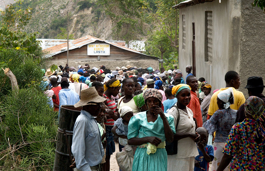 Many families walked for two days to get to the clinic!