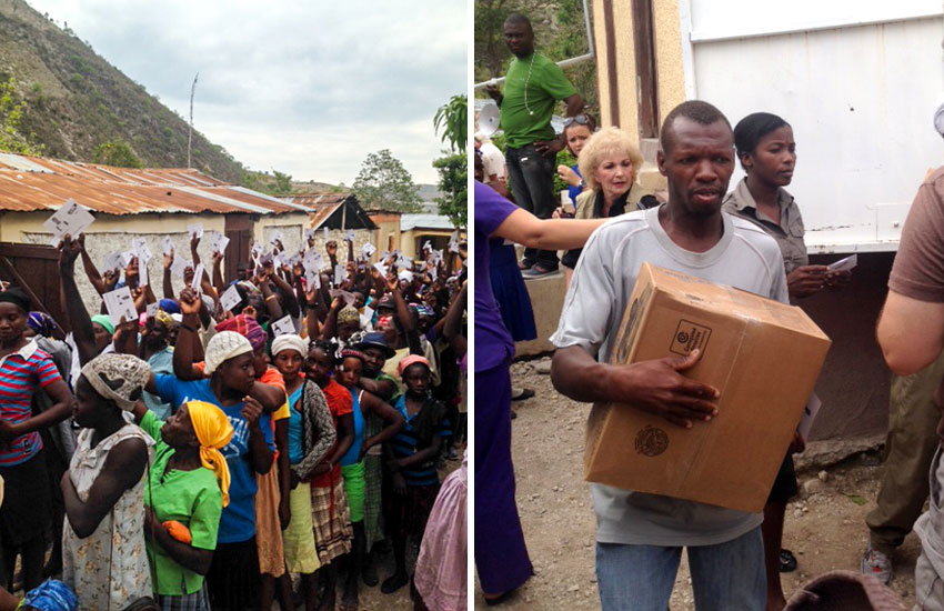 We started with a box of food... and then we were feeding hundreds of poor families.