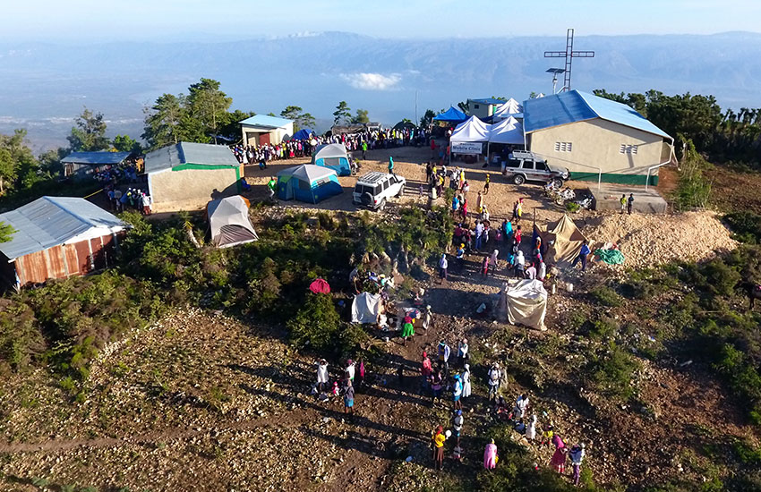 Our crew put up doctors' tents, a pharmacy tent, a wound care tent, an eye care tent, and a ministry tent, in addition to sleeping tents, and food.