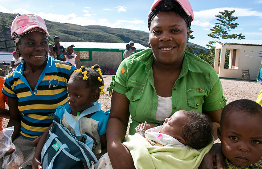 Hundreds of Haitians walked the entire night with babies in their arms to come to our Mobile Medical Clinic.