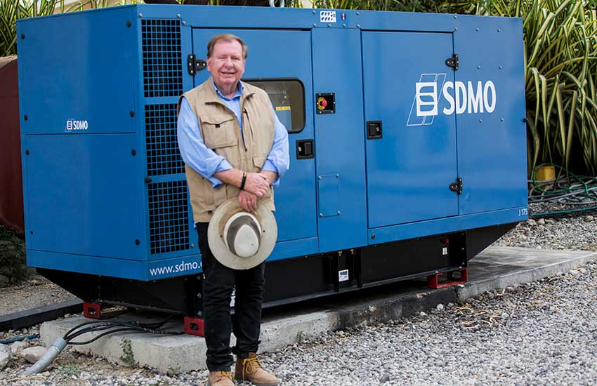 This summer, our old generator that runs the Jesus Healing Center blew up, and we needed to purchase a new generator.
