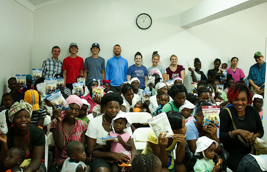 The team from Feed My Starving Children had a wonderful time at our Malnutrition Center.
