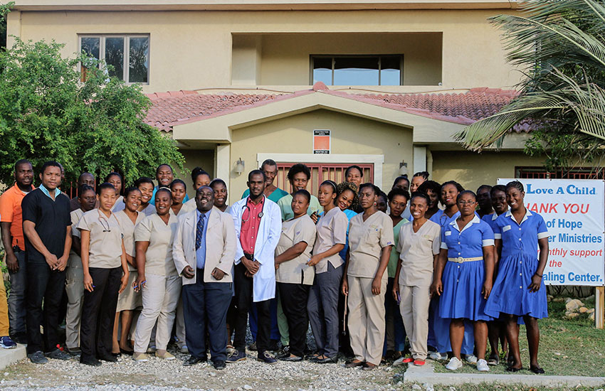 The staff of our Jesus Healing Center medical facility.