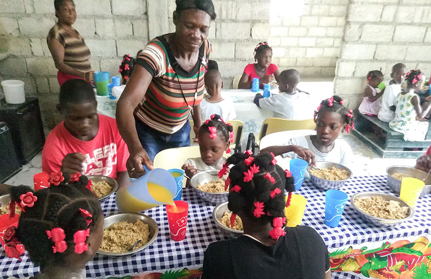 We are proud to partner with others that are helping to feed Haiti's children.