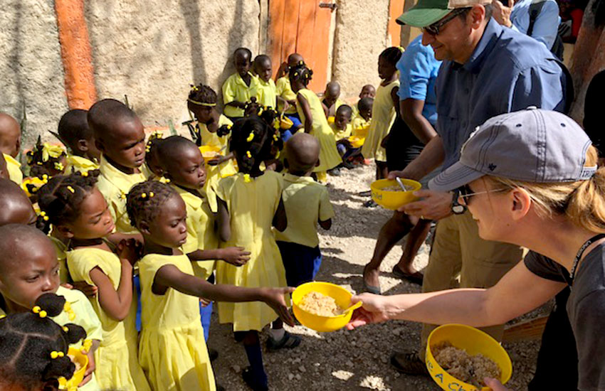 We feed thousands of schoolchildren throughout Haiti, through our Child Sponsorship Program.