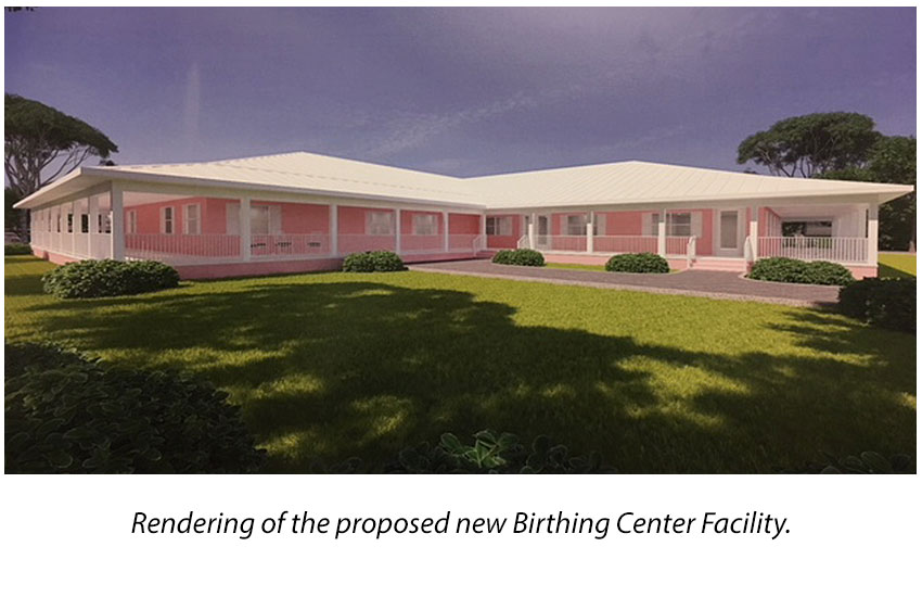 Rendering of the proposed Birthing Center Medical Facility.