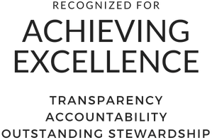 Recognized for Achieving Excellence. (Transparency, Accountability, Outstanding Stewardship)